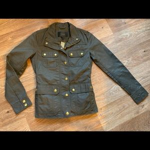 J Crew Resin Coated Twill Jacket